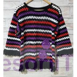 Bluza handmade multicolora