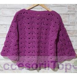 Bluza handmade mov