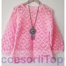 Bluza handmade roz
