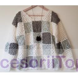 Bluza handmade carouri