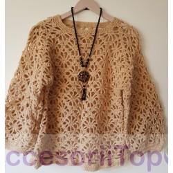 Bluza handmade bej